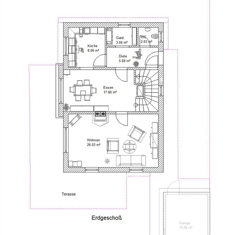 Erdgeschoss Charmantes Einfamilienhaus in Kirchdorf/Inn