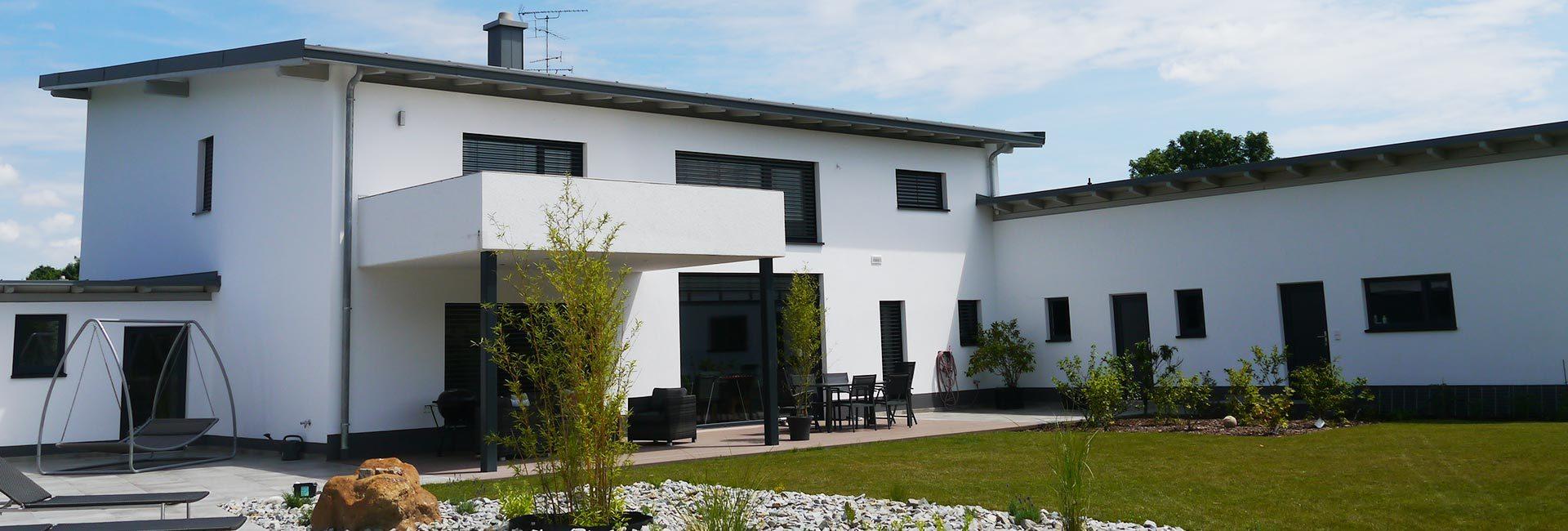 Garten eines Einfamilienhauses der Duldinger Bau GmbH in Triftern