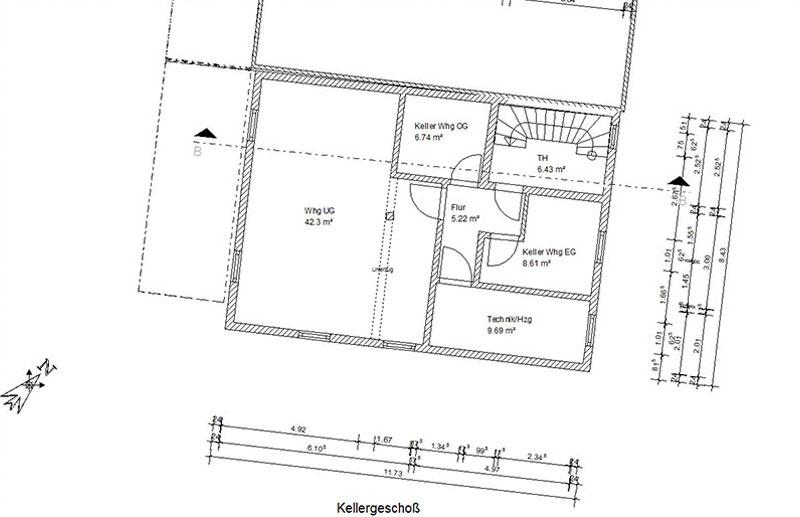 Keller Moderne Wohnung mit Garage im Markt Triftern