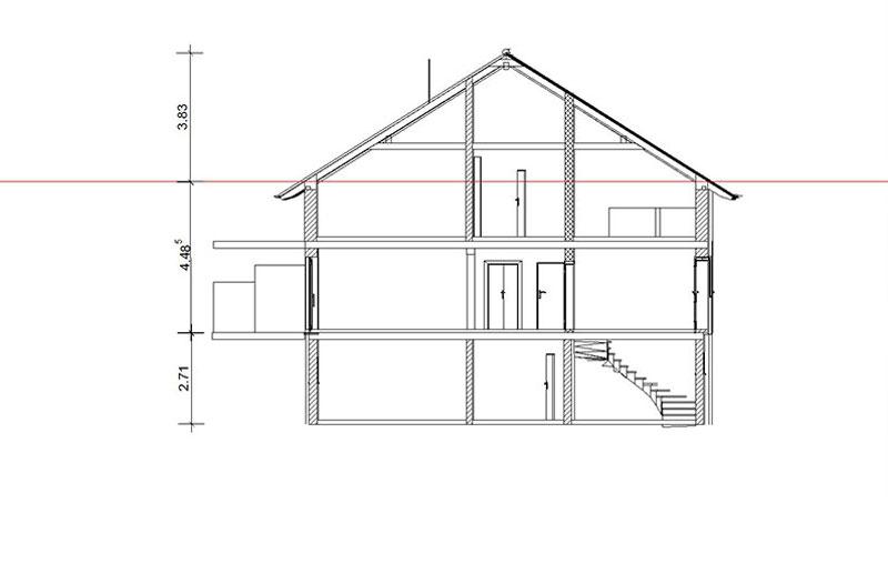 Schnitt Moderne Wohnung mit Garage im Markt Triftern